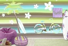 surfer girl room   ... girls tropical wall mural - Surfer themed bedroom accessories - surfer