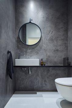 Modern Scandinavian Bathroom Interior In White - Interior Design Ideas & Home De. Modern Scandinavian Bathroom Interior In White – Interior Design Ideas & Home Decorating Inspirat Luxury Master Bathrooms, Grey Bathrooms, Modern Bathroom, Master Baths, Loft Bathroom, Modern Sink, Small Bathroom, Office Bathroom, Bathroom Black