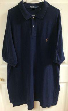 Polo By Ralph Lauren Short Sleeve Polo Shirt Men's Size 3XLT Tall Pima Cotton…
