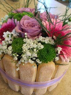 flowercake con rose gerbere e crisantemini
