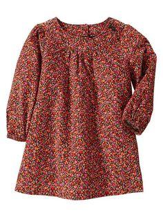 patterned corduroy dress