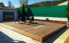Terrasse mobile pour piscine en position fermé. #abri #piscine #terrasse #mobile