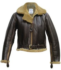 RAF sheepskin jacket based on the original Irvin design - Aero Leathers, Scotland, UK. Men's Leather Jacket, Shearling Jacket, Sheepskin Jacket, Lever Action, Aeroplanes, Men's Wardrobe, Bomber Jackets, Winter Sweaters, Gentleman Style