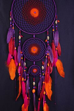 Violet Dream Catcher Large Dreamcatcher by BestDreamcatcherShop