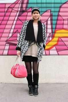 street look french blogger Artlex / fashion blog /sport/black and white