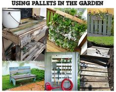 1000 images about pallet recreations on pinterest - Reusing pallets in the garden ...