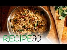 Pesto pasta with chicken breast, mushroom and sundried tomatoes - YouTube