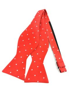 Red with White Polka Dots Self Tied Bowtie Ties Online, Formal Tie, Bowties, Red Background, Groomsmen, Must Haves, Gentleman, Polka Dots, Stylish