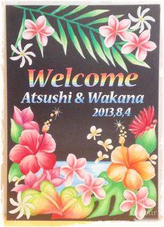 Hawaiian wedding board
