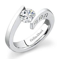 Tension Setting Ring-Gelin Abaci TR216 - Michael's Custom Jewelers