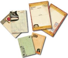 The Creative Studio / New Release: 7gypsies Ordre du jour (Order of the day) - recipe cards