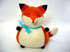 Cute fox, Fox pin cushion, Stuffed felt fox, Orange fox, Fox home decor, Fox lover gifts, Sewing gift, Fox soft sculpture, Animal pincushion by FatCatCrafts on Etsy https://www.etsy.com/listing/241376666/cute-fox-fox-pin-cushion-stuffed-felt
