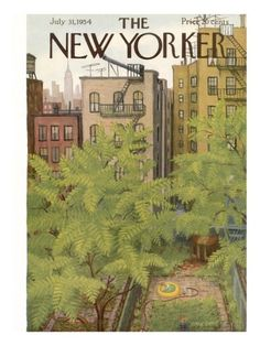 The New Yorker Cover - July 31, 1954 Regular Giclee Print