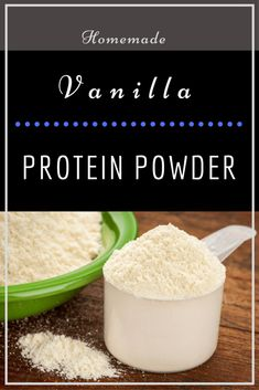 Homemade Vanilla Protein Powder Recipe - Make your own delicious vanilla bean protein powder - with only 4 ingredients! Protein Shake Recipe Without Powder, Protein Powder Substitute, Homemade Protein Powder, Homemade Protein Shakes, Protein Powder Shakes, Homemade Smoothies, Protein Powder Recipes, Protein Shake Recipes, Healthy Recipes