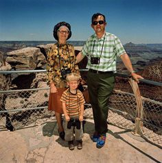 Roger Minick-Family in Earth Colors at South Rim, Grand Canyon National Park, AZ 1980