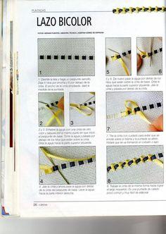 bordado - laço bicolor