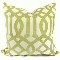 Kelly Weastler Citron Imperial Trellis Decorative Pillow Covers 18x18, 20x20  or 22x22