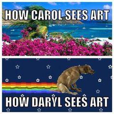 Daryl vs Carol