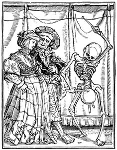 Artist: Holbein d. J., Hans, Title: »The Dance of Death« 35, The Noble Lady, or Bride, Date: 1524-26