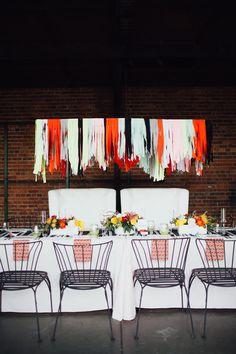 modern wedding inspiration, photo by Alison Vagnini http://ruffledblog.com/urban-brunch-wedding-ideas #weddingideas #receptions