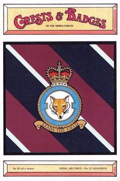#retweet #postcards Postcard RAF Royal Air Force No.12 Squadron Crest Badge No.28 NEW #RT 50% OFF when you Buy 3+