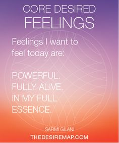 Check out 'The Desire Map' - the soulful way to create goals based on how you want to feel.