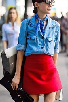 Wear scarf with style