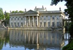 Łazienkowski Palace ('Palace on the Water') - Warsaw, Poland;  dates from the mid-17th century, and was the residence of Poland's last monarch, King Stanislaw Poniatowski;  photo by picqero
