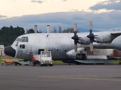 USAF LC-130 ready for a new paint job before the Antarctic season begins  Type: Lockheed LC-130H Hercules  Registration: 83-0491  Location: Christchurch International Airport  Date: 15/09/2012