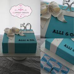 Tiffany Box - by cjsweettreats @ CakesDecor.com - cake decorating website