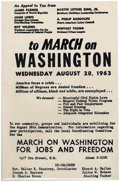 handbill for the 1963 March on Washington