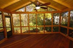 building+sceened+in+porch | Screened Porch w/Black Deckorator Balusters - Screened Porches Photo ...