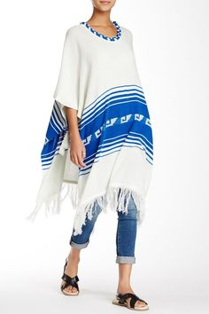 Loving the poncho look! Sponsored by Nordstrom Rack.