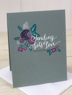 Dawn Woleslagle for Wplus9 featuring More Fresh Cuts and Valentine Wishes stamp sets.