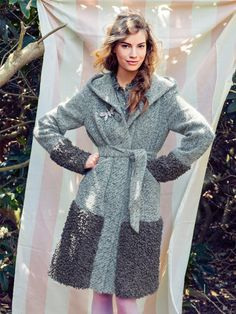 the hood for my coat Burda Sewing Patterns, Coat Pattern Sewing, Coat Patterns, Jacket Pattern, Clothing Patterns, Sewing Clothes, Diy Clothes, Burda Style Magazine, Coats For Women
