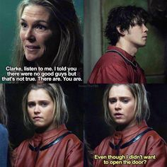 "#The100 4x12 ""The Chosen"" - Abby, Clarke and Bellamy"