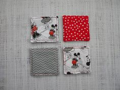 Coasters set of 4 Vintage Mickey and Minnie Mouse by LiveLaughSew, $6.00