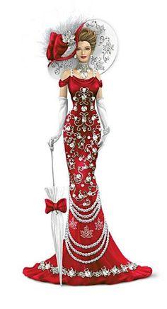 Lady Canada Figurine With Swarovski Crystals / http://www.bradfordexchange.ca:
