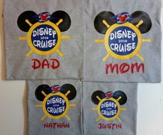 Disney Cruise Personalized Family Shirts by Tsays on Etsy (null)