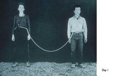 """""""One year performance"""" (Rope Piece). Sam Hsieh"""