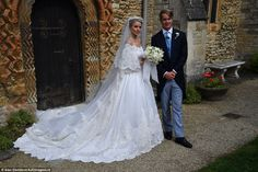 Royal Family Around the World: George Spencer-Churchill, Marquess of Blandford, and Camilla Thorp, tied the knot at St Mary Magdalene Church, Woodstock near Blenheim Palace on September 2018 Royal Wedding Gowns, Royal Weddings, Wedding Dresses, Camilla, Woodstock, Wedding Couples, Wedding Day, St Mary Magdalene Church, Wedding Canvas
