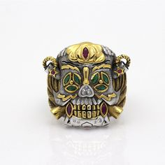The Expendables 3 Sylvester Gardenzio Stallone Skull Cosplay 925 Sterling Silver Lucky Ring * Default size US 11#,accepting sizable,US 7~14# is av