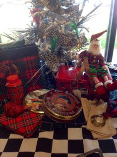 Plaid, Christmas at Robertson Gallery & Antiques Springfield Missouri
