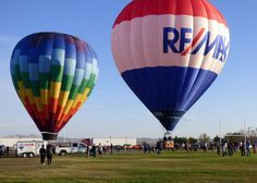 The RE/MAX balloon at Balloon Festival in Coalinga, CA