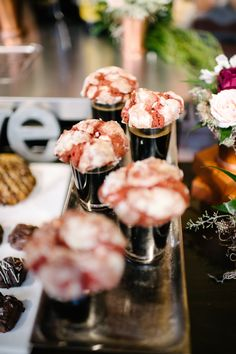 Who doesn't love the idea of pairing a milk stout with red velvet cookies?! This was such a fun food pairing for our brewery wedding at Mission Brewery. Click to see more of this unique wedding dessert bar! #weddingdesserts #sandiegowedding | Always Flawless Productions | A San Diego Wedding Planning & Design Studio