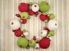 Felt Folly Christmas Wreath  artbeads.com