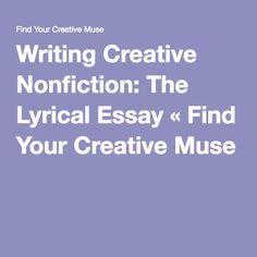 Creative - nonfiction essay