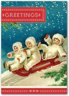 Snow Babies by Cartolina Cards: Modern Paper Goods