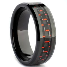 Carbon Fiber Mens Ring.