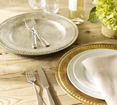 A glint of gold and silver — this wedding gift adds just a touch of glam to any table.